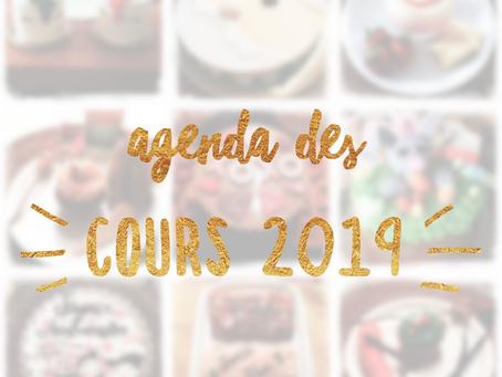 Agenda des Cours 2019