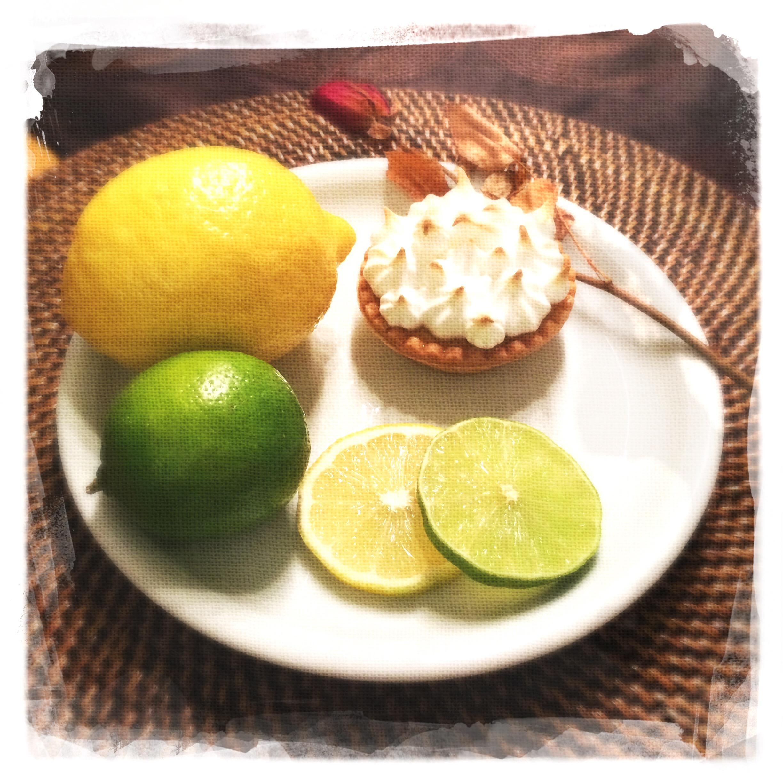 Tartelette Citron/citron vert meringuée