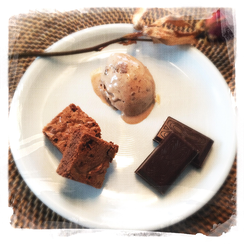 Glace Chocolat/Brownies