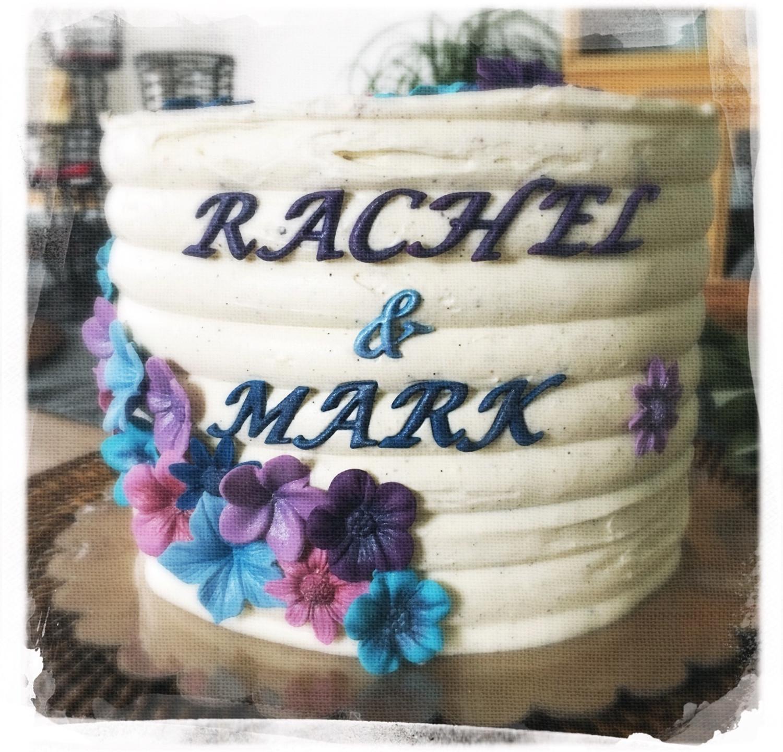 Gâteau mariage fleuri II