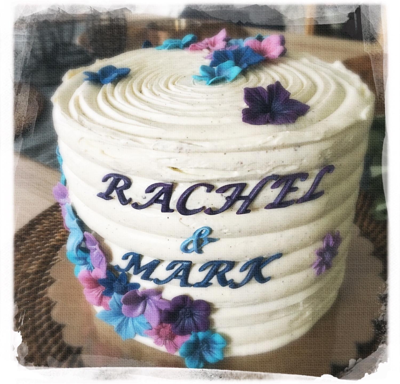 Gâteau mariage fleuri I