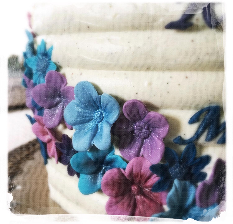 Gâteau mariage fleuri III
