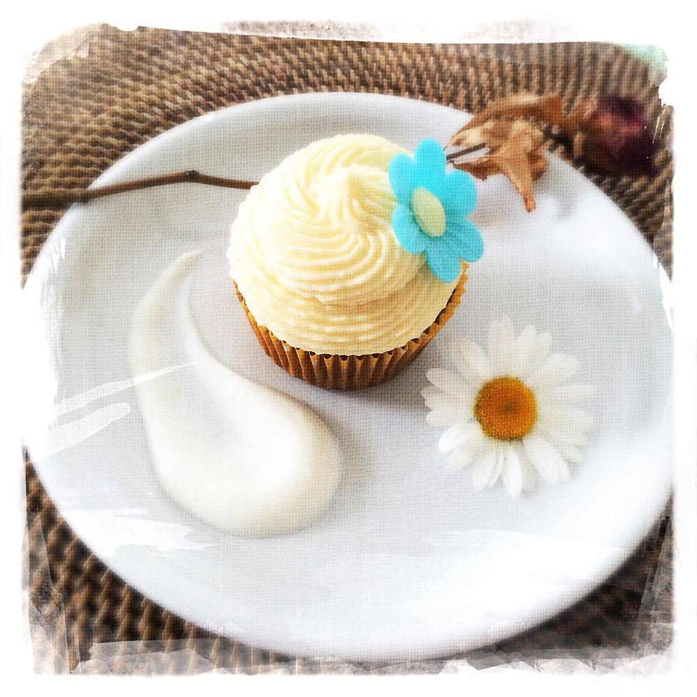 Cupcake Fleur d'oranger/Yogourt
