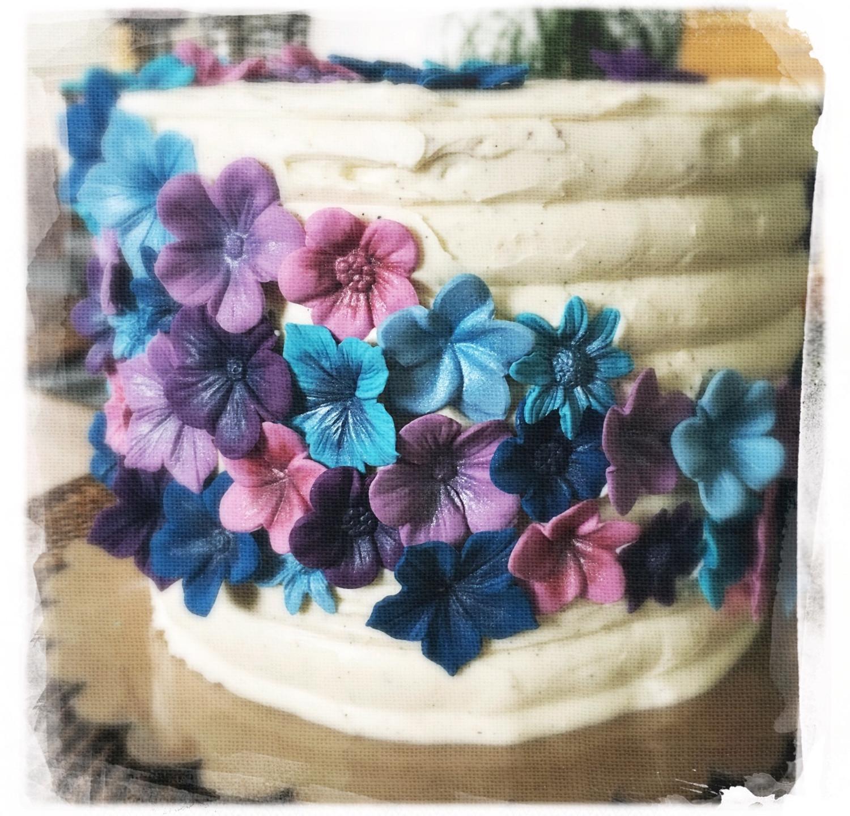 Gâteau mariage fleuri IV
