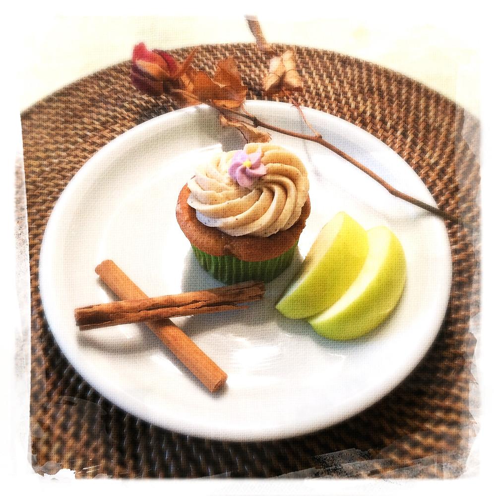 Cupcake Pommes caramélisées/Cannelle