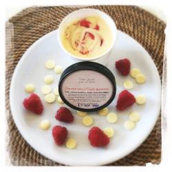 Glace Chocolat blanc/Coulis frambois