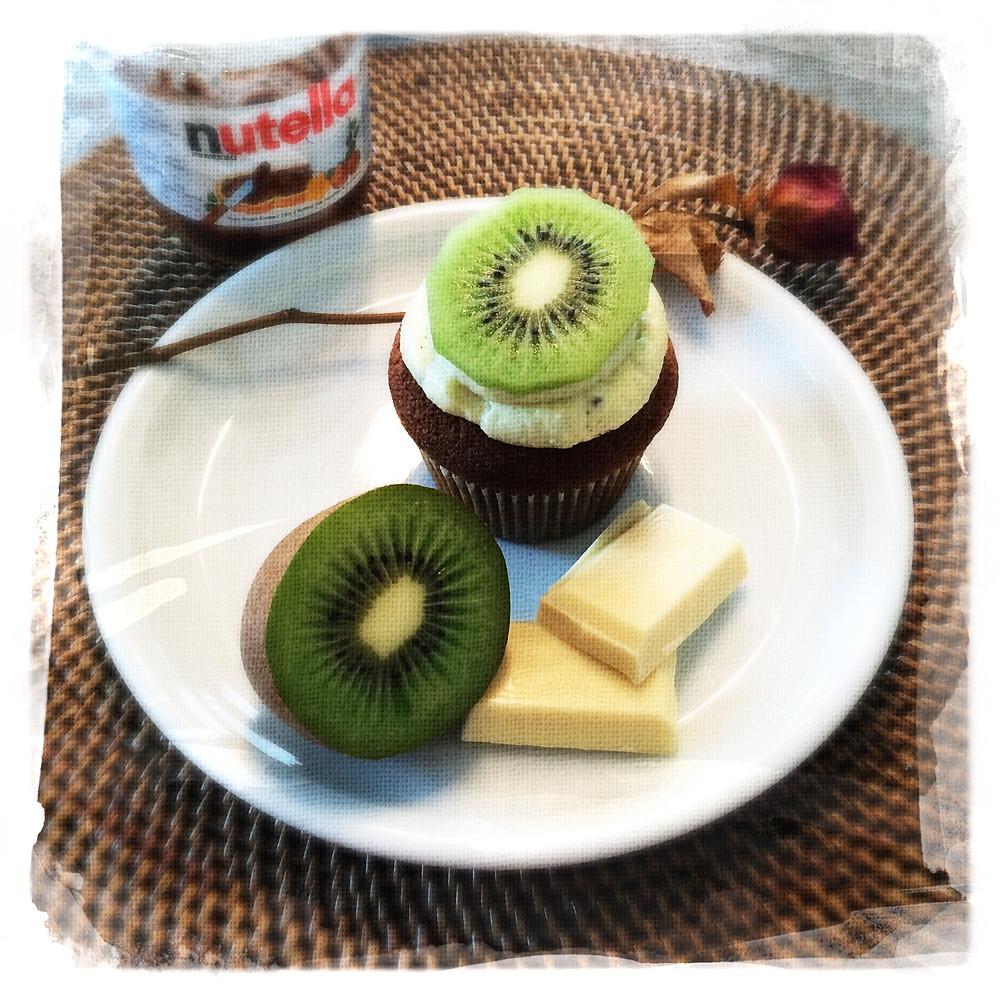 Cupcake Chocolat blanc/Nutella®/Kiwi