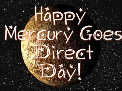 Tuesday Mercury Goes Direct