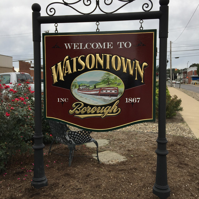 Watsontown with metal decorative posts.J