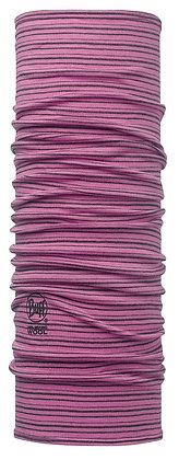 莓紫流線 美麗諾羊毛頭巾