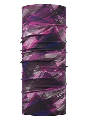 莓紫稜線 經典頭巾