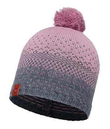 針織保暖毛球帽 漸層紅 MAWI LILAC SHADOW