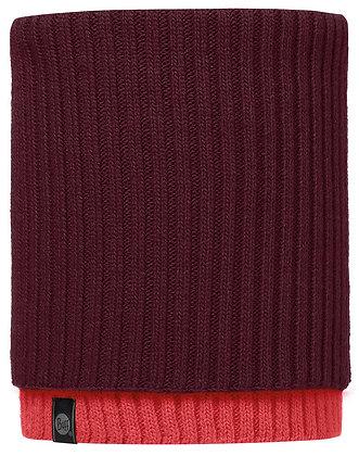 針織保暖領巾 紅 SNUD WINE