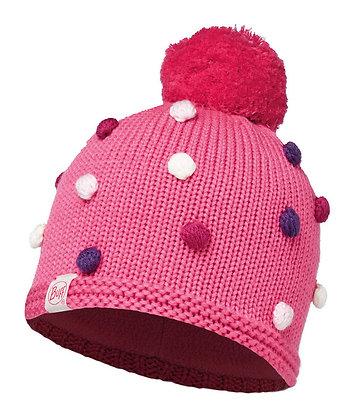 粉紅喜瑞爾毛球 兒童Polar針織保暖帽 ODELL IBIS ROSE