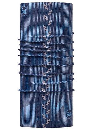經典反光頭巾 海軍藍紋