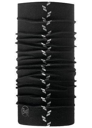 極黑素面 反光頭巾