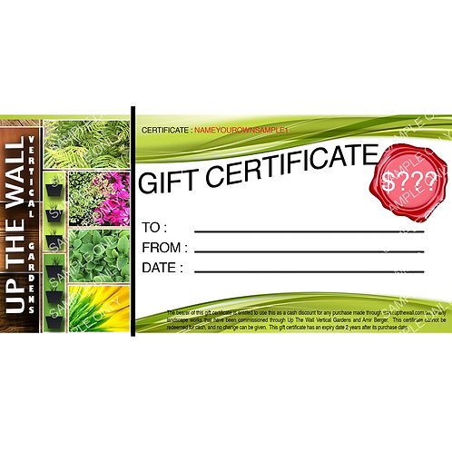 """""""Create your own"""" Gift Voucher"""