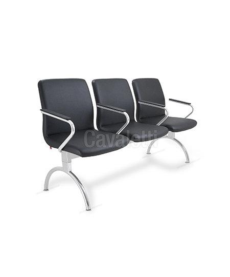 Cadeira para Escritório - Diretor - Longarina - 18010 c/ Bra- Cavaletti