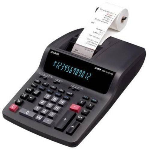 Calculadora Casio c/ Bobina DR-120TM-BK