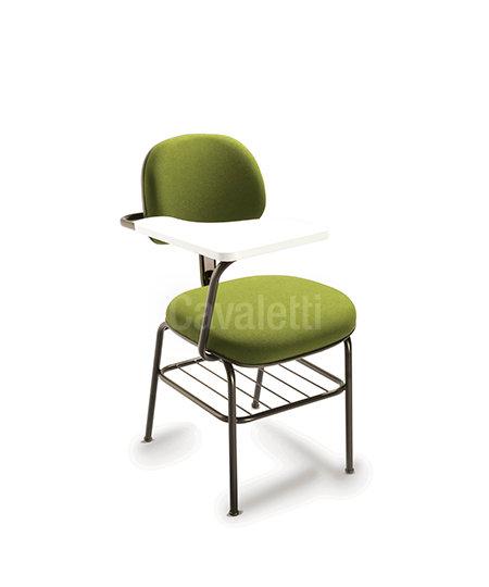 Cadeira para Escritório - Secretária - Fixa - Com Prancheta - 4008 PU -Cavaletti