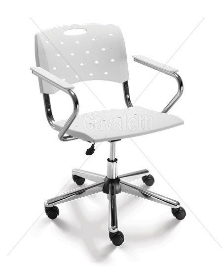Cadeira para Escritório - Plástica - Giratória - 35004 Z- Cavaletti