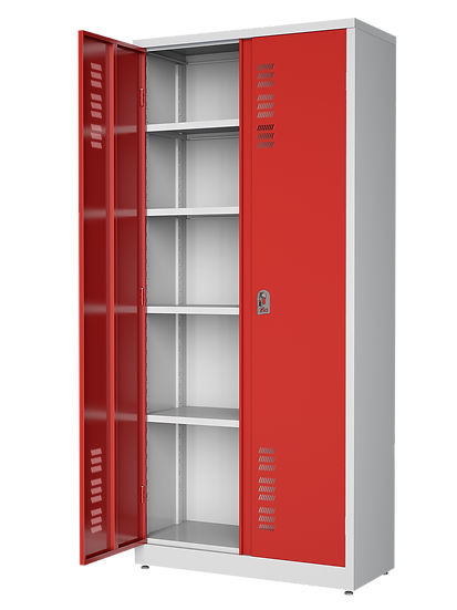 Armário de Aço com portas coloridas