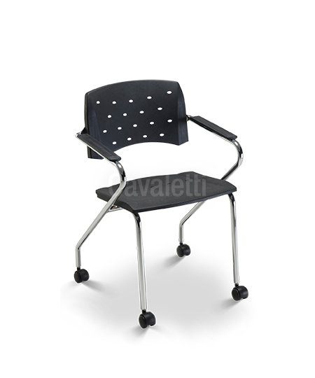 Cadeira para Escritório - Plástica - Fixa - 35007 Z ROD- Cavaletti