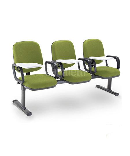 Cadeira para Escritório - Longarina - Diretor - 4005 - Com prancheta escamoteáve