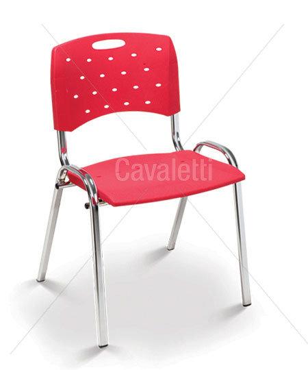 Cadeira para Escritório - Plástica - Fixa - 35008 P - Cavaletti