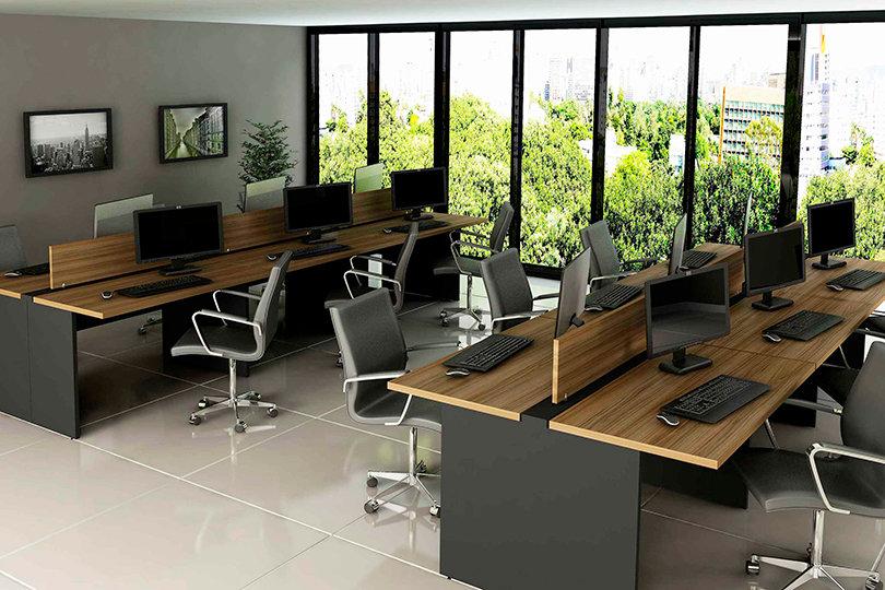 Mesa para Escritório - Plataformas - Linha 40mm - Maranello 03