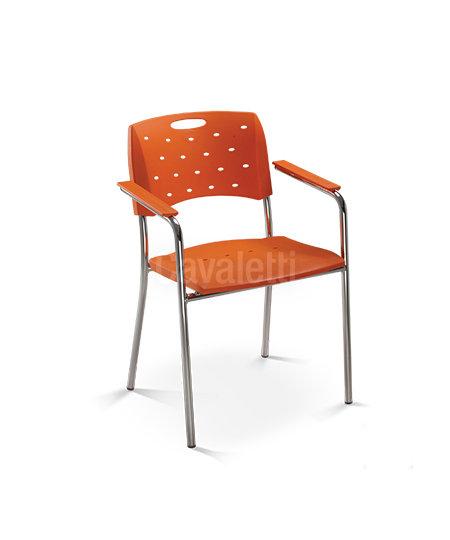 Cadeira para Escritório - Plástica - Fixa - 35007 P- Cavaletti