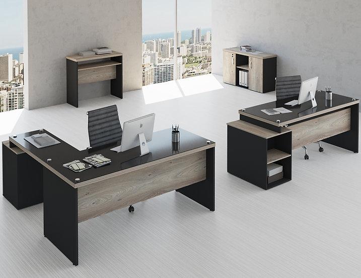 Mesa para Escritório - Linha 40mm Glass - Maranello 01