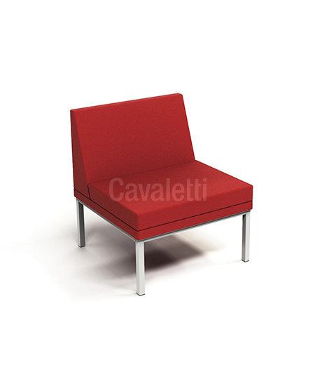 Poltrona Central com encosto - Espera - 36505 - Cavaletti