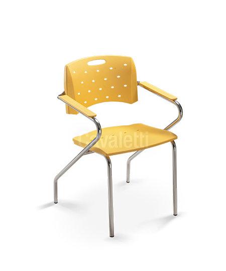 Cadeira para Escritório - Plástica - Fixa - 35007 Z - Cavaletti
