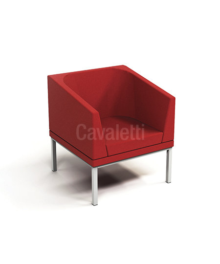 Poltrona com braço - Espera - 36505 - Cavaletti