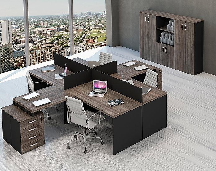 Mesa para Escritório - Estação de Trabalho - Linha 25mm - Maranello 02