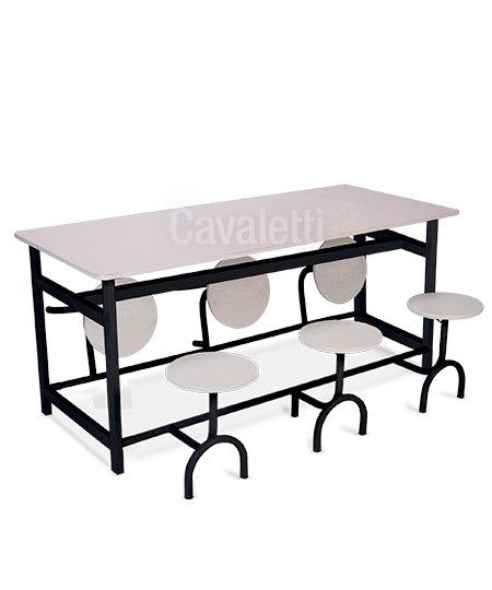 Mesa para Refeitório - 11301 c/ Bancos - Cavaletti