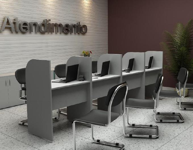 Mesa para Escritório call center 03