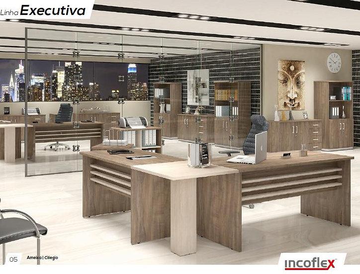 Mesa para Escritório Linha Executiva -Incoflex