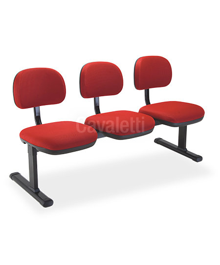 Cadeira para Escritório - Secretária - Longarina - 8109  - Cavaletti