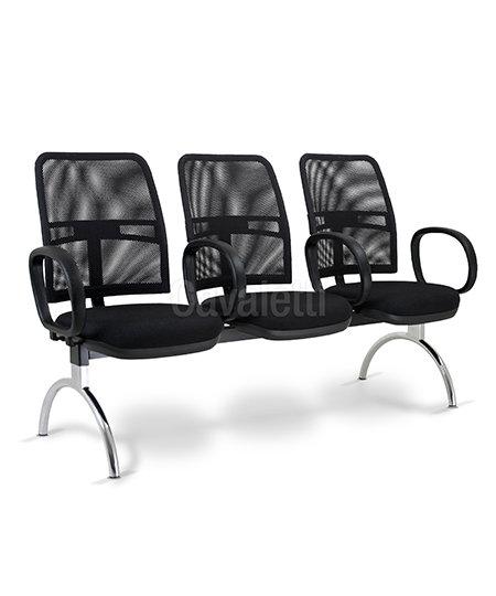 Cadeira para Escritório - Executiva - Longarina - 16010 c/ Braço   - Cavaletti
