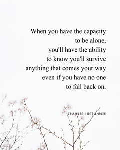 Finding The Courage To Stand On Your Own