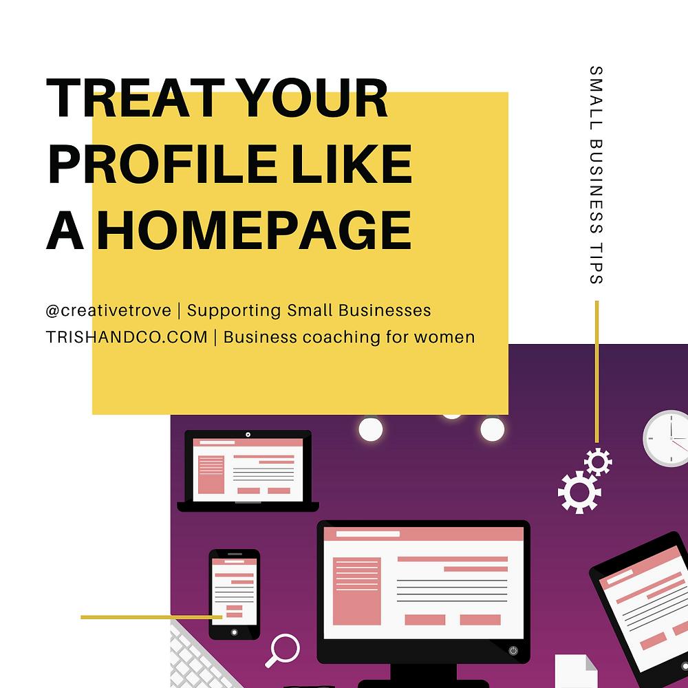 Treat Your Profile Like A Homepage