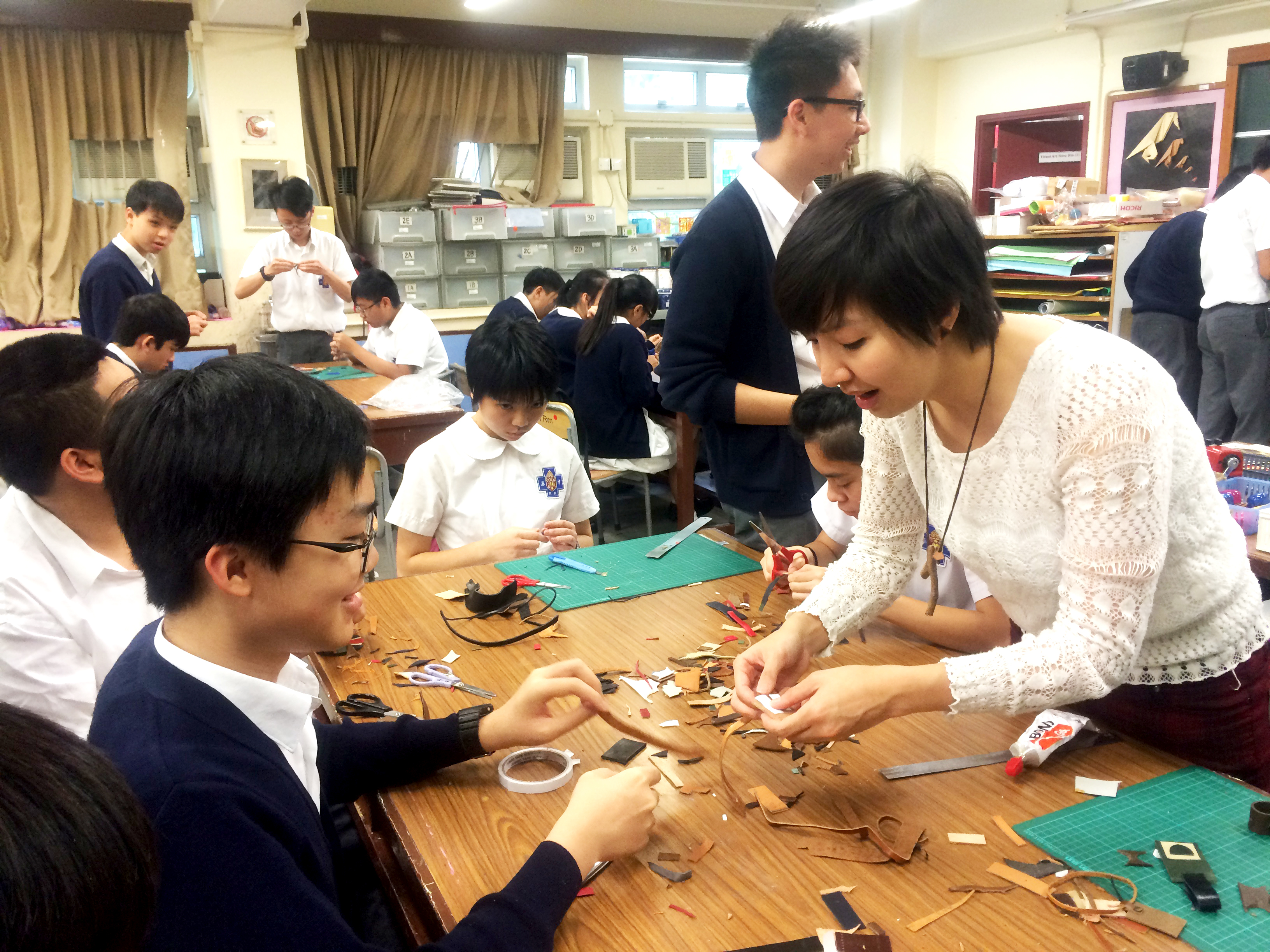 upcycle workshop with students