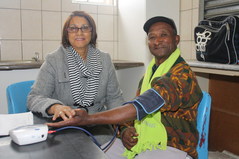 Stroke Prevention | Blood pressure monitoring is done on a regular basis at all community groups