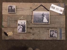 Het is ook een leuk idee om een foto wand te maken als home decoratie met foto op houten