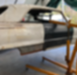 Linwood Restoration lifting a 1964 Impala