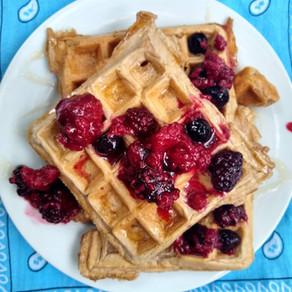Healthy, High Fiber Waffles (gluten/dairy free)