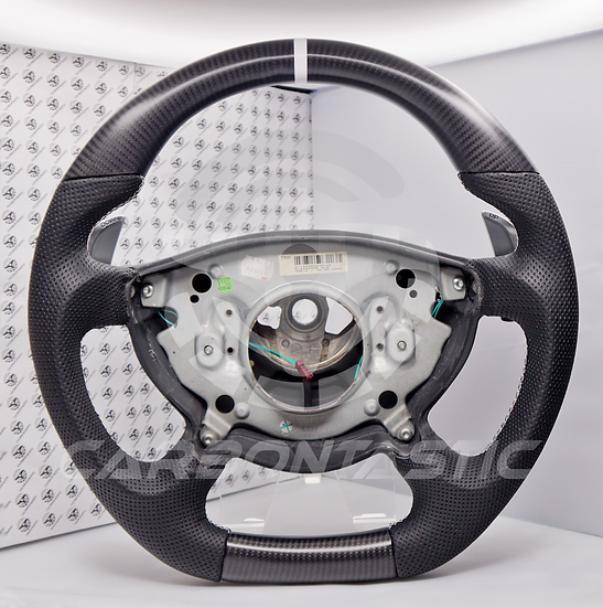 2003+ E/G-Class Custom Carbon Fiber Steering Wheel With Paddle Shifter