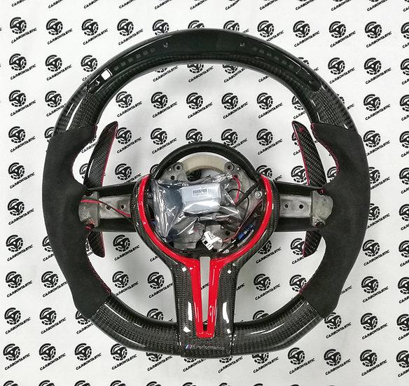 F Series 1-4 | X 1-6 | M2, M3, M4 LED Shift Light Carbon Fiber Steering (Paddle)